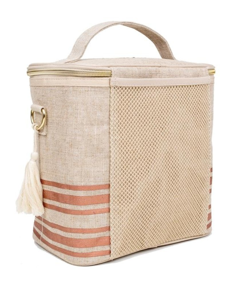 So Young Grand sac Lunch isolé Rayures Rose Gold