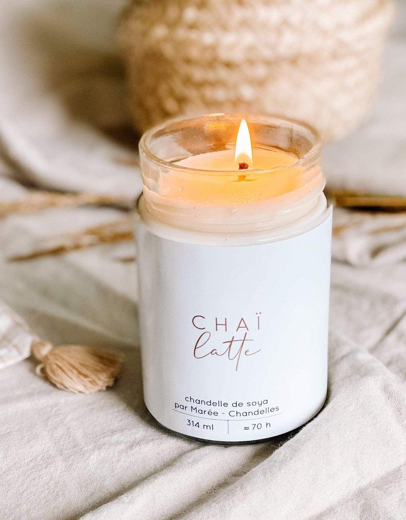 Marée Chandelles Chandelle de soya Chaï latté