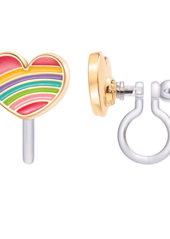 Boucle d'oreille à clip Coeur