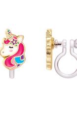 Boucle d'oreille à clip Licorne
