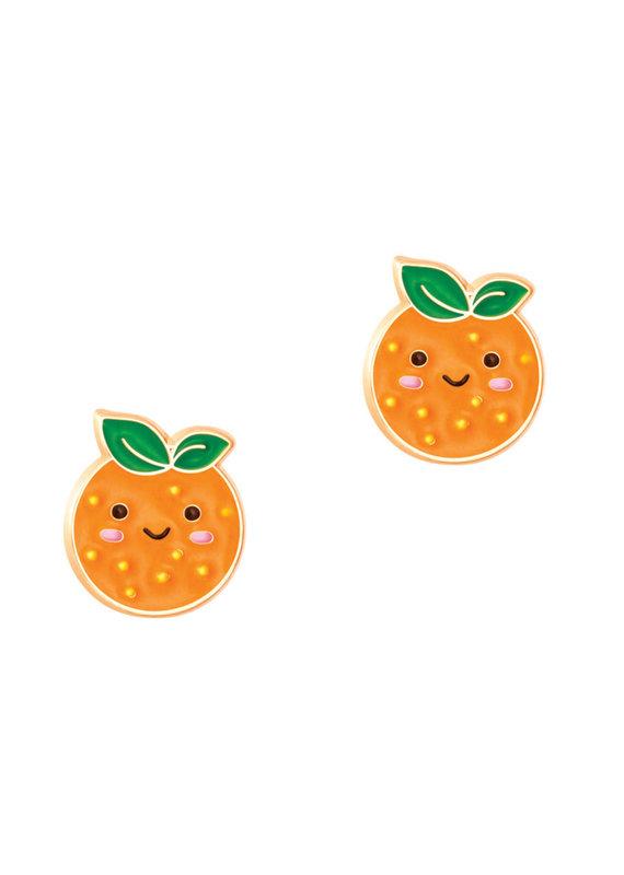 Boucle d'oreille à tige Orange