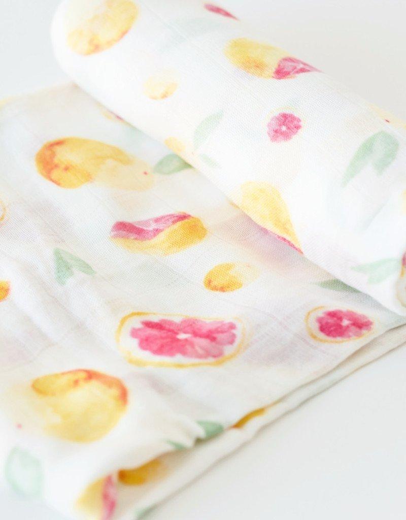 Couverture en mousseline bambou Little Unicorn Grapefruit