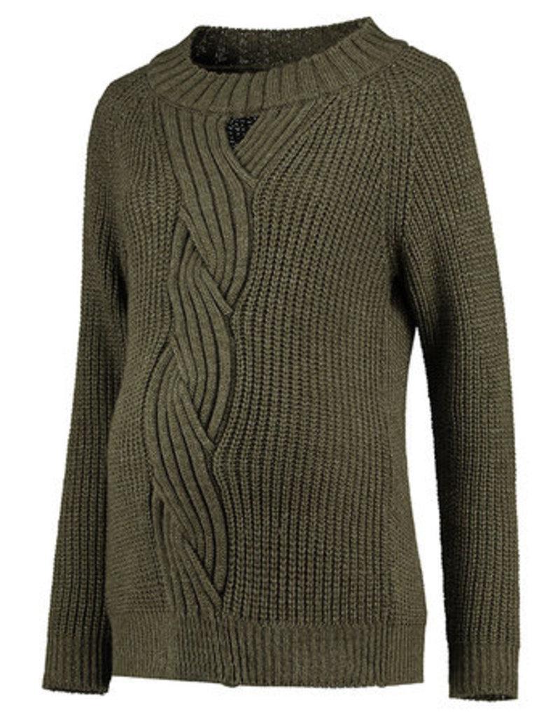 Chandail tricot manches longues Vert