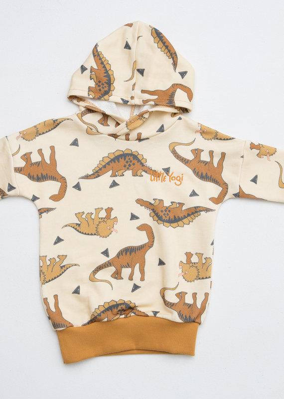 Little Yogi Hoodie Little mighty Dinosaurs