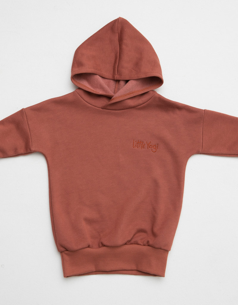 Little Yogi Hoodie Dark Peach