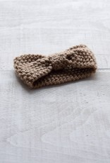 Bandeau tricot chaud taupe