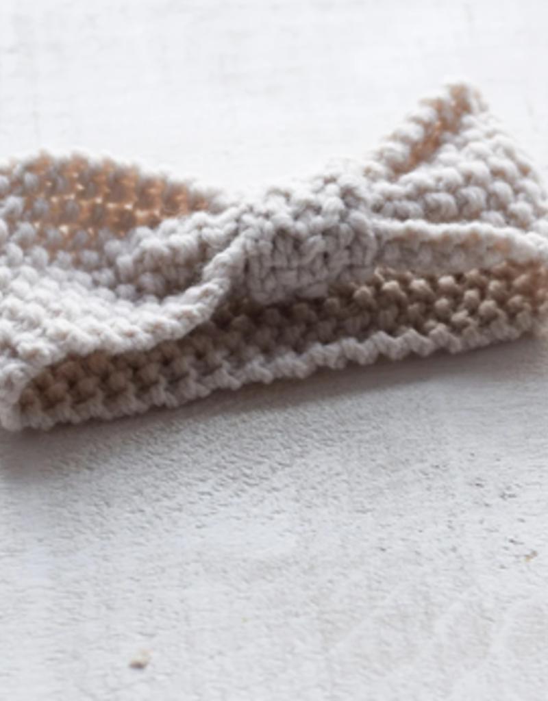 Bandeau tricot chaud sable