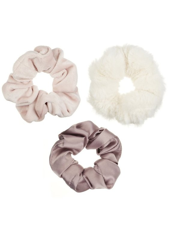 3 scrunchies de luxe Blush
