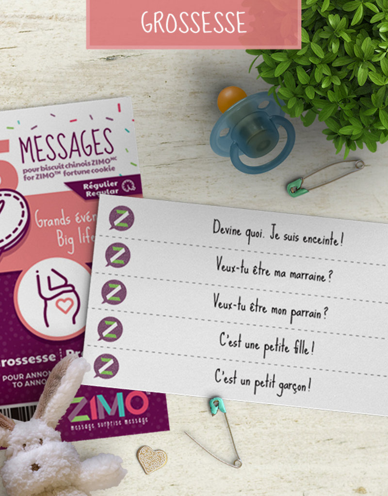 Zimo Message pour biscuits Zimo Grossesse
