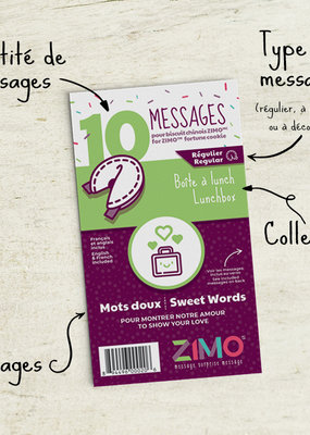 Zimo Message pour biscuits Zimo Mots doux