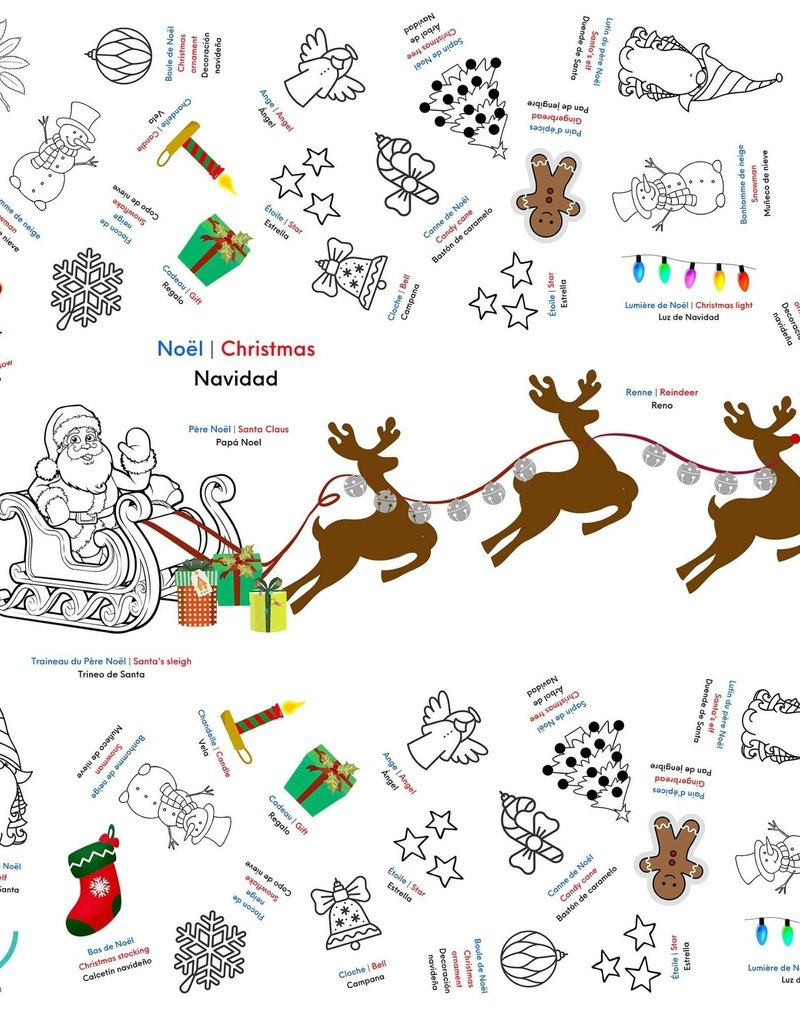 Bimoo Nappe à colorier Noël 45 x 45po
