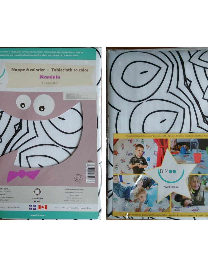 Bimoo Nappe à colorier Mandala 45 x 45po