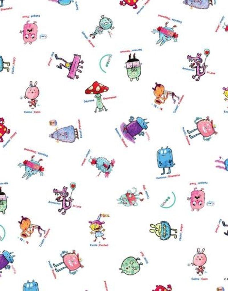 Bimoo Nappe à colorier Emotions 45 x 45po