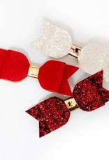 Lox Lion Trio de boucles à cheveux Rouge paillette rouges et blanche