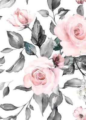 Doux Bécot Couverture minky 27 x 40 Fleurs blanches