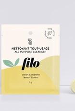Filo Pastille nettoyante tout-usage Citron et menthe