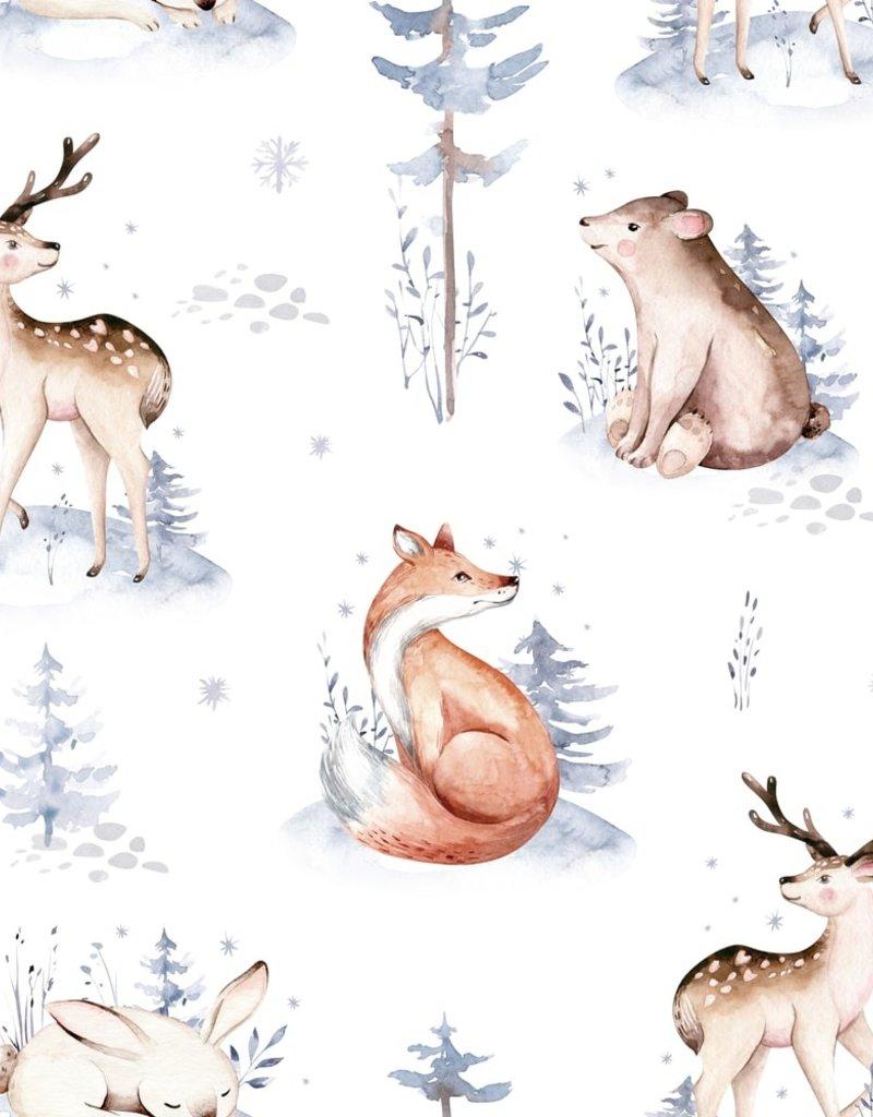 Doux Bécot Couverture minky 27 x 40 animaux hivernaux