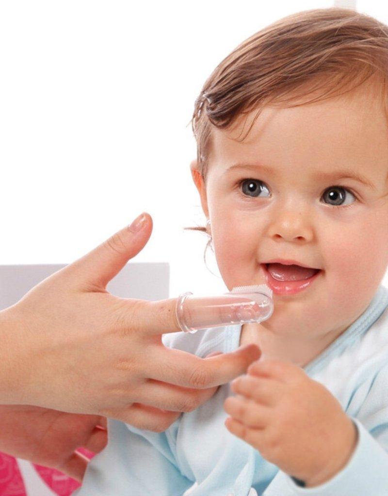 Brosse à dent/doigt en silicone