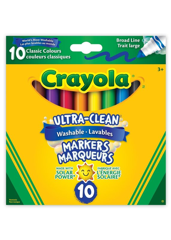 Crayola 10 feutres ultra lavables