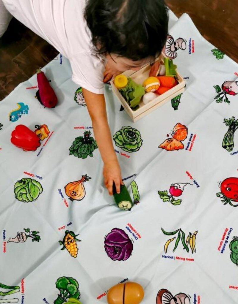 Bimoo Nappe à colorier Légumes 45 x 45po