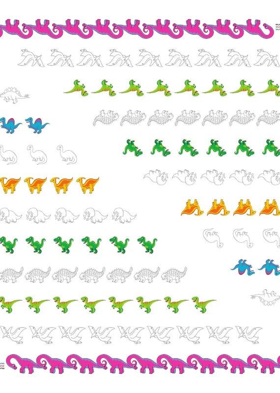 Bimoo Nappe à colorier Nombres 45 x 45po
