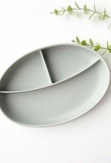 Assiette compartimentée grise