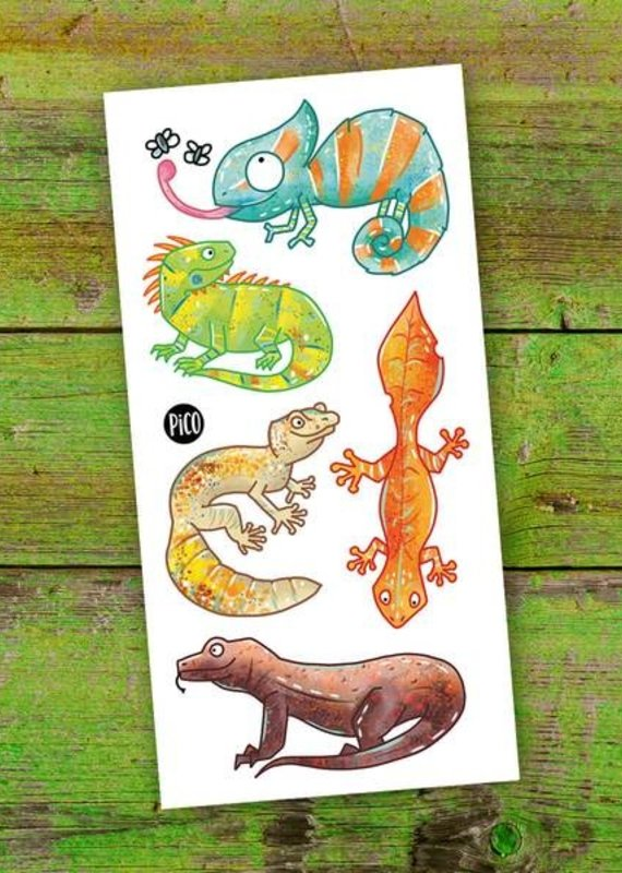 Pico tatouages temporaires Tatouage temporaire Les lézards