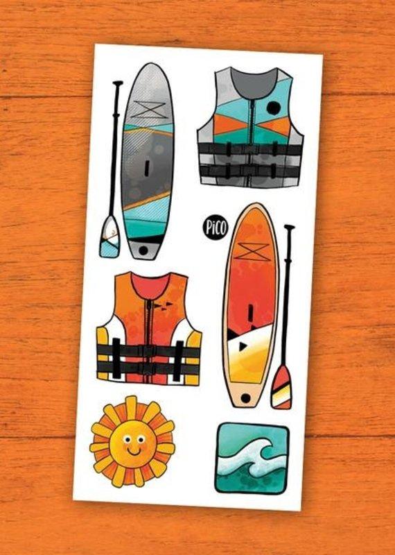 Pico tatouages temporaires Tatouage temporaire planches et pagaies