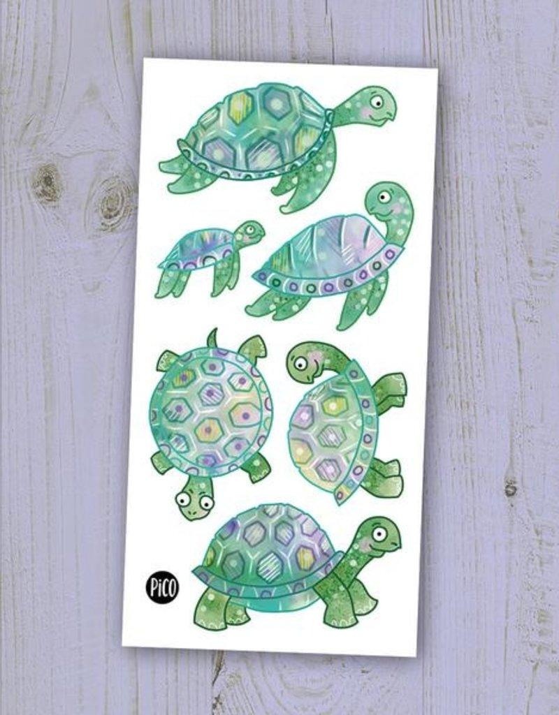 Pico tatouages temporaires Tatouage temporaire Les tortues
