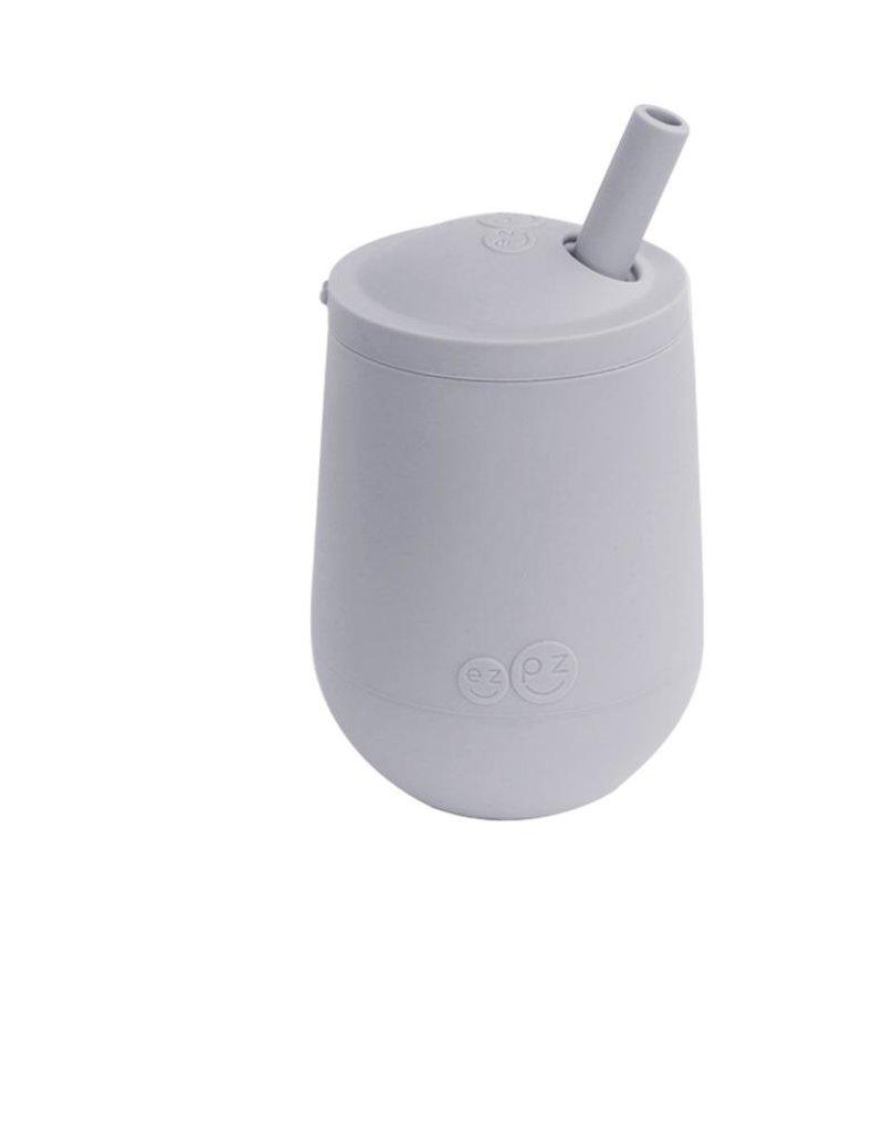 Mini cup et couvercle à paille Gris