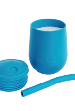 Mini cup et couvercle à paille bleu