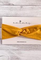 Ananas Co Bandeau croisé 0-2 ans moutarde