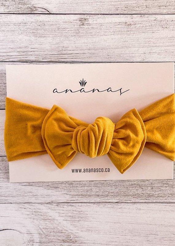 Ananas Co Bandeau boucle adulte Moutarde