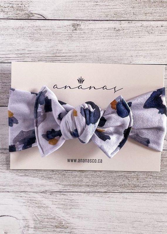 Ananas Co Bandeau boucle 0-5ans léopard bleu