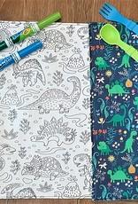 Création Écoval Napperon à colorier Dinos