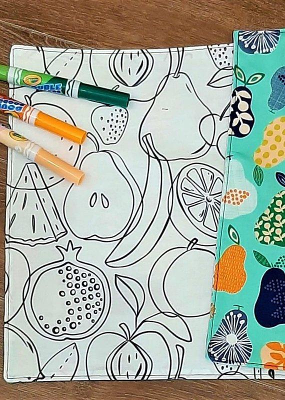 Création Écoval Napperon à colorier Fruits et légumes