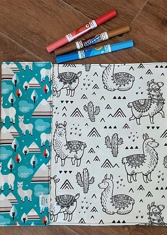 Création Écoval Napperon à colorier Lamas