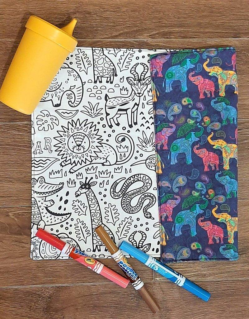 Création Écoval Napperon à colorier Savane