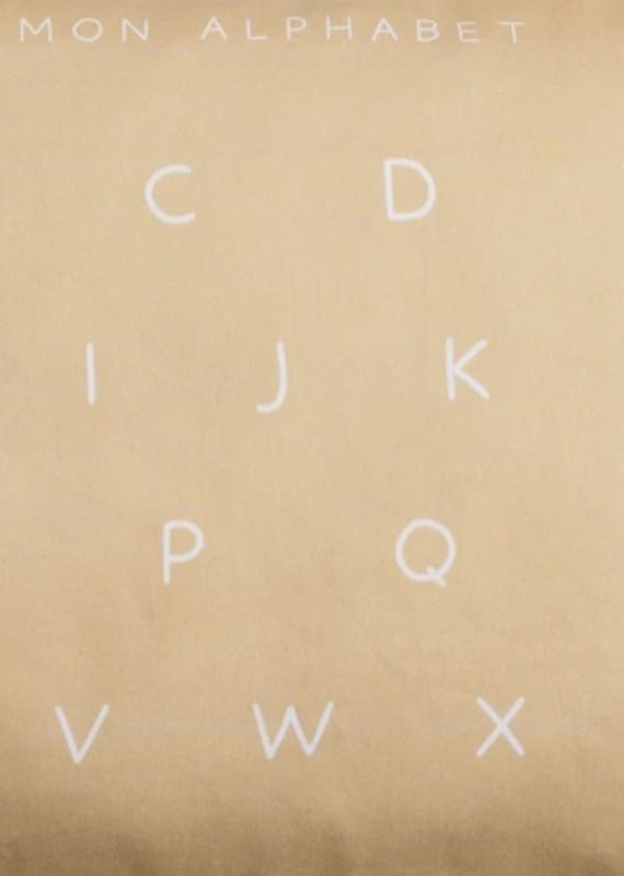 Maovic Oreiller de sarrasin pour enfant Mon alphabet