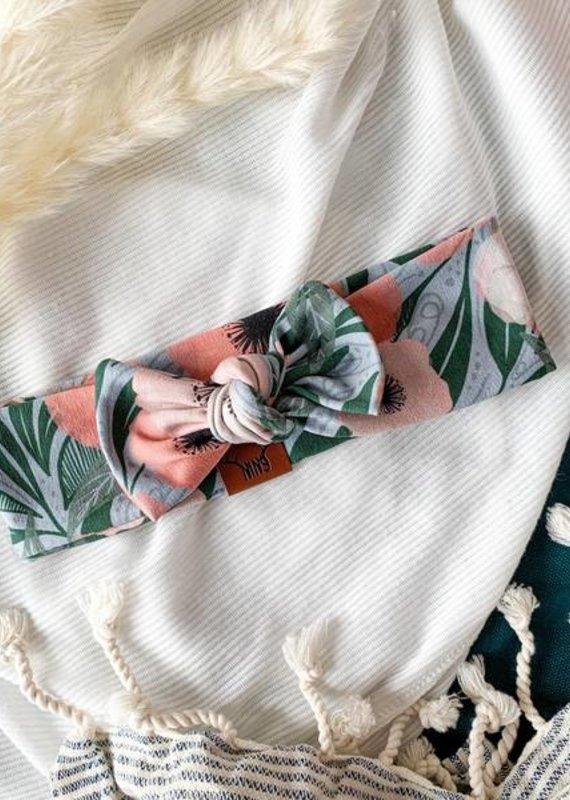 Nine Bandeau fleur corail femme