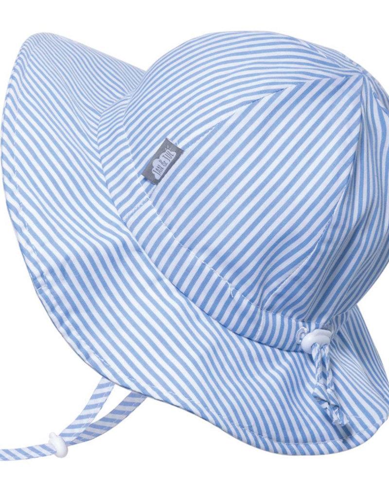 Jan & Jul Chapeau Coton Floppy rayures bleues