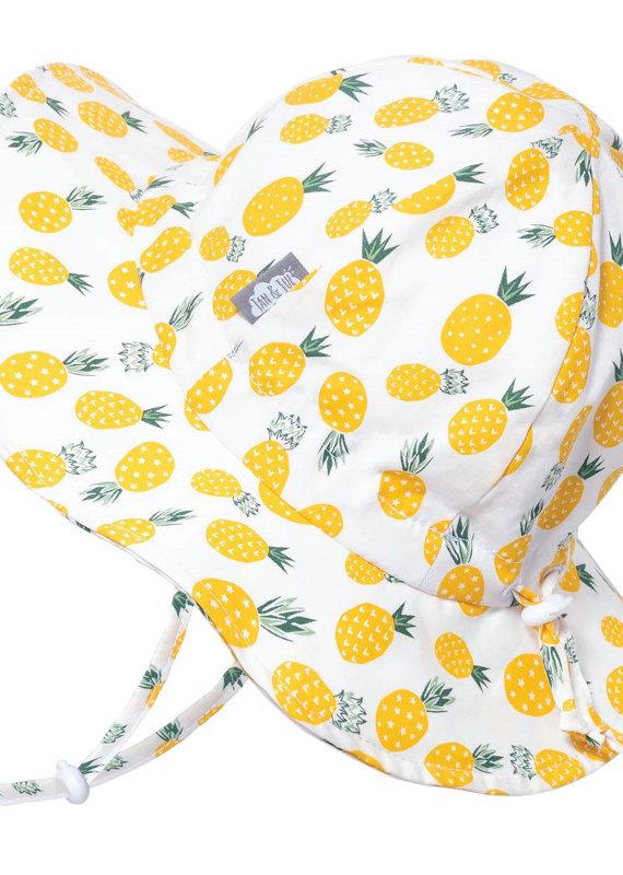 Jan & Jul Chapeau Coton floppy Ananas jaune