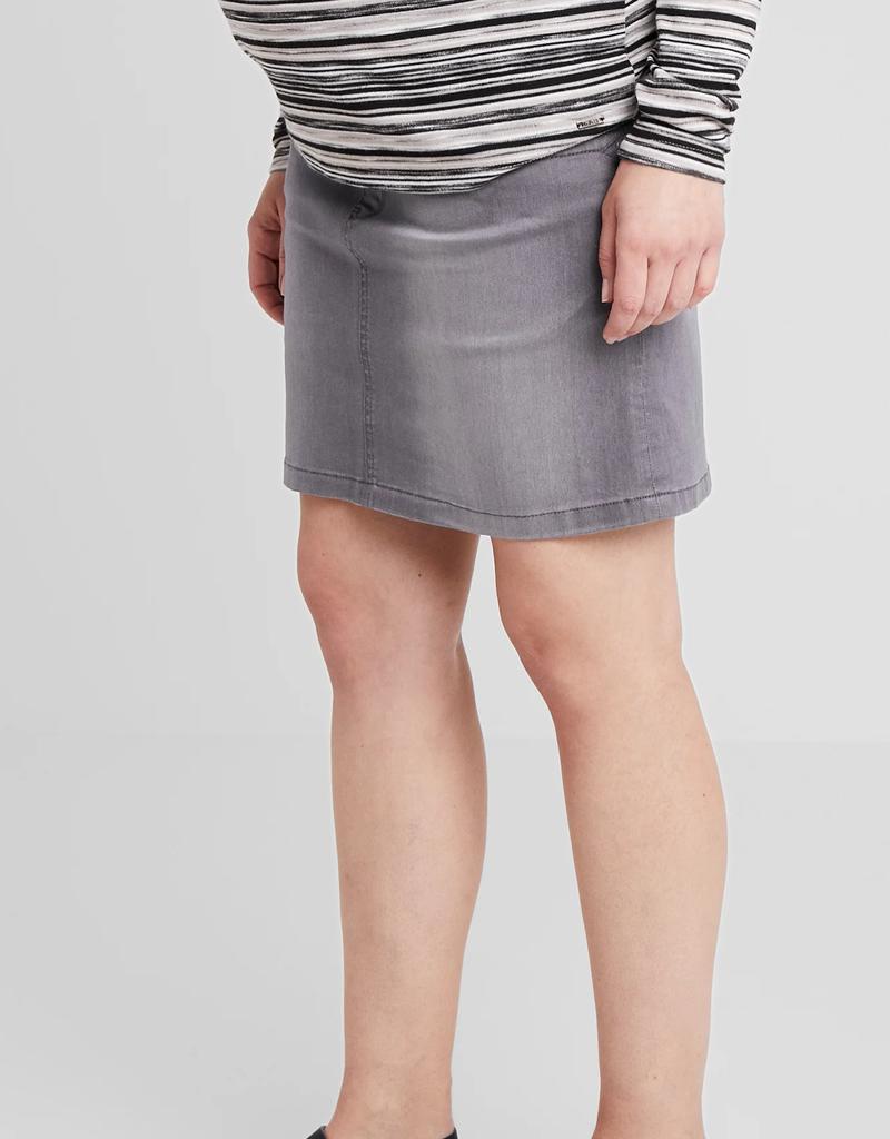 Jupe en jeans gris pâle