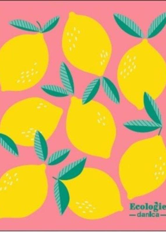Linge suédois absorbant polyvalent Citrons