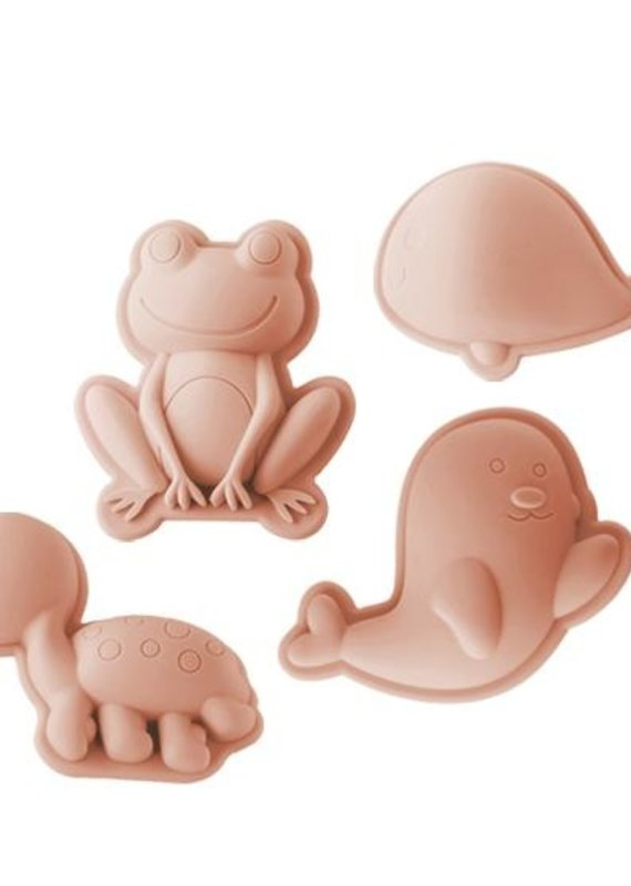 Scrunch Ensemble de moule en silicone grenouille blush