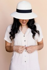 Rose maternité Chapeau cloche ivoire