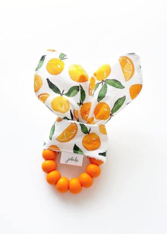 Hochet oreilles de lapin  Clémentines et oranges