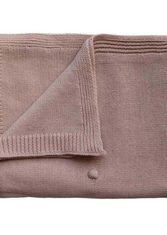 Mushie Couverture tricot texturé Blush