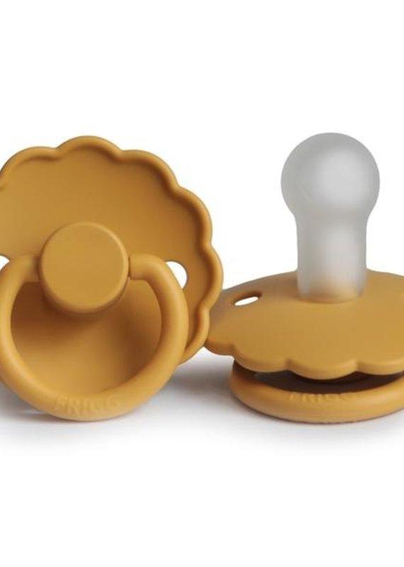 Mushie Suce FRIGG Daisy silicone 0-6m Honey Gold
