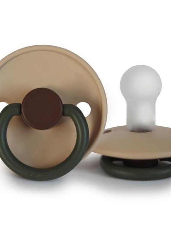 Mushie Suce FRIGG  silicone 0-6m Colorblock Acorn